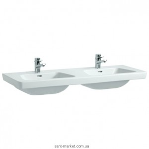 Раковина для ванной подвесная двойная Laufen коллекция Moderna белая H8145410001041