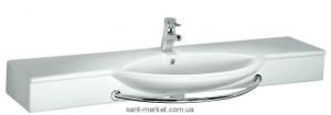 Раковина для ванной на тумбу умывальник-столешница с вешалкой Laufen коллекция Palace белая H12513