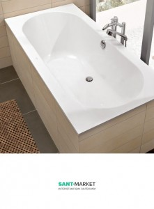 Ванна квариловая прямоугольная Villeroy&Boch коллекция Oberon 190x90х48 UBQ199OBE2V-96