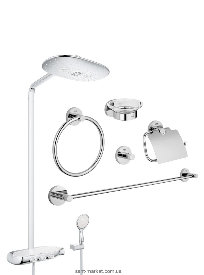 grohe rainshower smartcontrol 360 duo 26250000 grohe essentials. Black Bedroom Furniture Sets. Home Design Ideas