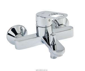 Смеситель однорычажный для ванны с коротким изливом Grohe коллекция BauLoop хром 23341000
