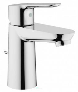 Смеситель для раковины однорычажный с донным клапаном Grohe колекция BauEdge хром 23328000