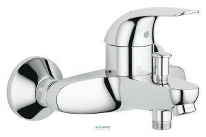 Смеситель однорычажный для ванны с коротким изливом Grohe коллекция Euroeco хром 32743000