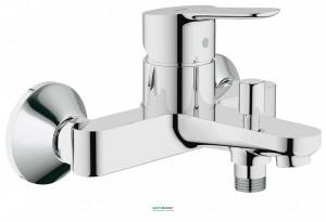 Смеситель однорычажный для ванны с коротким изливом Grohe коллекция BauEdge хром 23334000