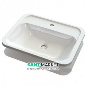 Раковина для ванной встраиваемая Буль-Буль коллекция Tiffany белая 4806101