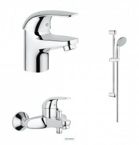 Набор смесителей для ванной комнаты Grohe Euroeco 123226S