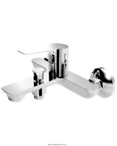 Смеситель однорычажный для ванны с коротким изливом Imprese коллекция Kucera хром 10105