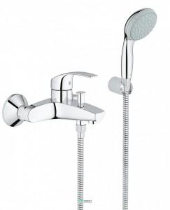 Смеситель однорычажный с душем для ванны Grohe коллекция Eurosmart New хром 33302002