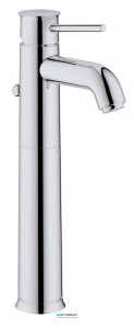 Смеситель для раковины однорычажный с донным клапаном высокий Grohe BauClassic хром 32868000