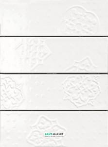 Плитка настенная Ragno Brick Glossy Decoro White 10*30