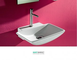 Раковина для ванной подвесная AeT коллекция Fine белая L234T0R1V1