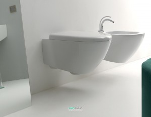 Унитаз подвесной Kerasan коллекция Aquatech белый 371501 с крышкой Soft Сlose 378801