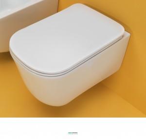 Унитаз подвесной Kerasan коллекция Tribeca белый 511501 с крышкой Soft Сlose 519101