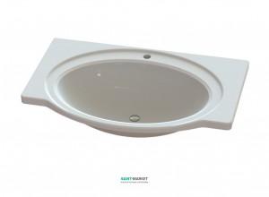 Раковина для ванной на тумбу Snail коллекция Афродита белая 108А100