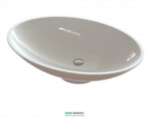Раковина для ванной накладная Snail коллекция Ника белая 103А100