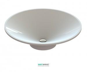 Раковина для ванной накладная Snail коллекция Орион белая 121А100