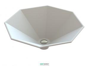 Раковина для ванной накладная Snail коллекция Сириус белая 113А100