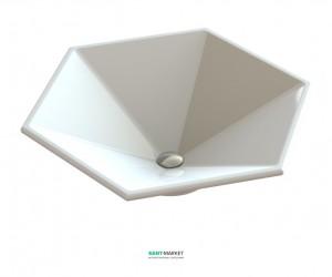 Раковина для ванной накладная Snail коллекция Астерия белая 112А100