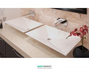Раковина для ванной накладная Snail коллекция Капелла белая 119LА100