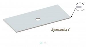 Столешница под раковину Snail Артемида 90х55 белая 125А100