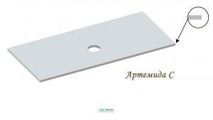 Столешница под раковину Snail Артемида 120х55 белая 126А100