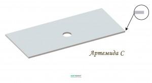 Столешница под раковину Snail Артемида 150х55 белая 127А100