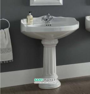 Раковина для ванной на пьедестал Sanitana коллекция Grecia белая GRLV3