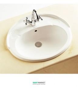 Раковина для ванной встраиваемая Sanitana коллекция Grecia белая GRLE2