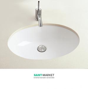 Раковина для ванной встраиваемая Sanitana коллекция Loja белая LJLE2