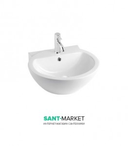 Раковина для ванной накладная Sanitana коллекция Loop белая LPLV1E
