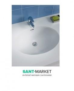 Раковина для ванной встраиваемая Sanitana коллекция Anadia белая ANLE2
