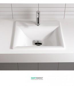 Раковина для ванной встраиваемая Sanitana коллекция Aida белая ADLE0E