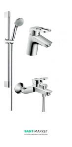 Набор смесителей для ванны Hansgrohe Logis Loop с полотенцем 1042017+86002454