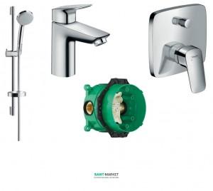 Набор скрытого монтажа для ванны Hansgrohe Logis хром 71100000+27772000+71405000+01800180