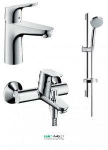 Набор смесителей для ванны Hansgrohe Focus хром 31607000+31940000+27772000
