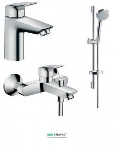 Набор смесителей для ванны Hansgrohe Logis хром 71100000+71400000+27772000