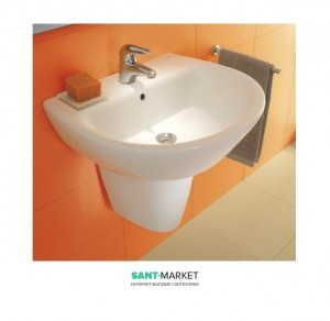 Раковина для ванной подвесная Sanitana коллекция Jazz белая KPLV1