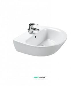 Раковина для ванной подвесная Sanitana коллекция Jazz белая KPLV3