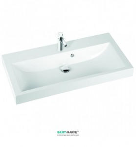 Раковина для ванной на тумбу Marmorin коллекция Argo белая 290 100 022 xx x