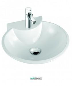 Раковина для ванной накладная Marmorin коллекция Disa белая 130 050 020 xx x