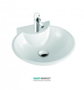 Раковина для ванной накладная Marmorin коллекция Disa белая 130 060 020 xx x