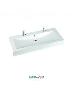 Раковина для ванной на тумбу двойная Marmorin коллекция Ceto белая 170 130 022 xx x