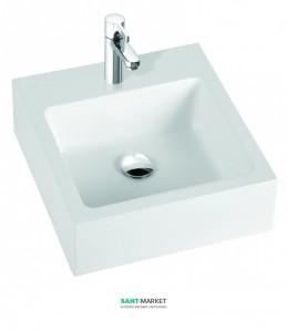 Раковина для ванной на тумбу Marmorin коллекция Ceti белая 180 045 020 xx x