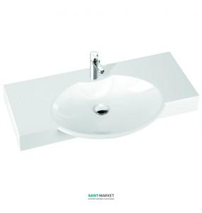 Раковина для ванной подвесная умывальник-столешница Marmorin коллекция Carme белая 260 098 020 xx x