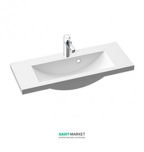 Раковина для ванной на тумбу умывальник-столешница Marmorin коллекция Talia белая 270 080 020 xx x