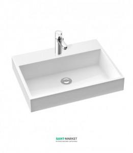 Раковина для ванной накладная Marmorin коллекция Teo белая 641 060 0xx xx x