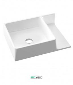 Раковина для ванной подвесная с полкой Marmorin коллекция Thin белая 632 055 720 хх х
