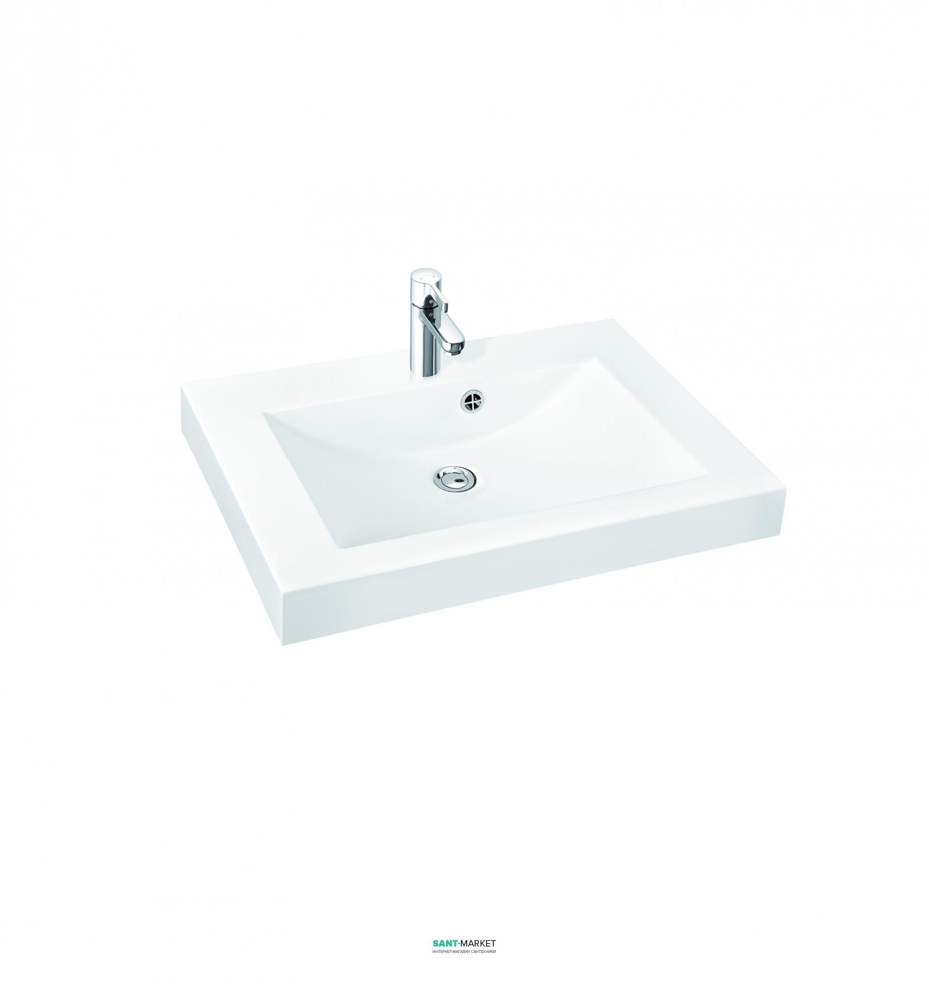 Раковина для ванной на тумбу Marmorin коллекция Moira Bis белая 280 060 022 xx x