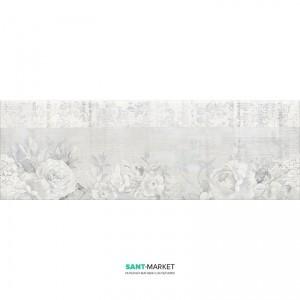 Плитка настенная Kale Etoile Floral White-Grey Rectified Rm-7207R 25х75