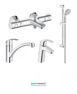 Набор смесителей для ванны Grohe Grohtherm 800 345534